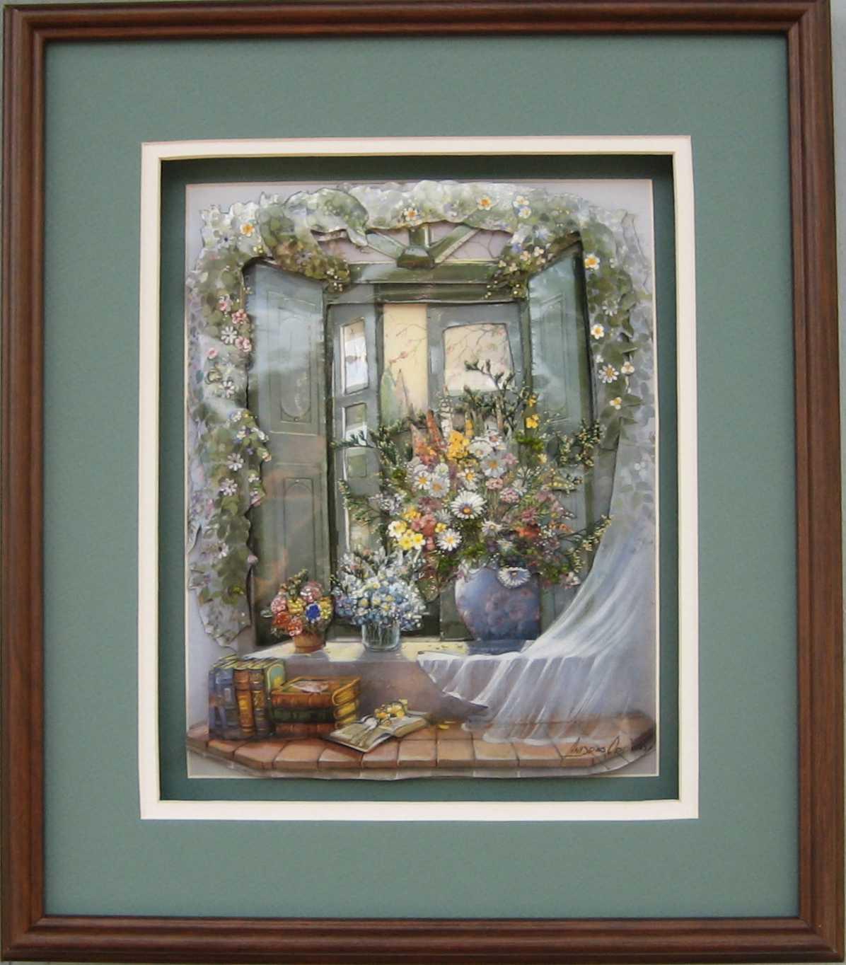 Bay Window Floral Paper Tole 3d Kit Size 16x20 16 1035