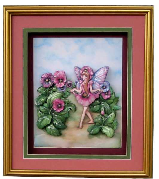 Pansy Flower Fairy Paper Tole 3d Kit Size 8x10 95753