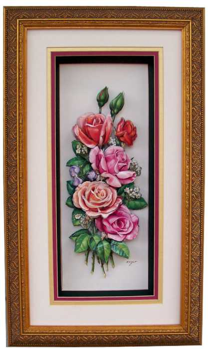 shadow box fancy gold frame size 10x19 for 6x15 picture 6994