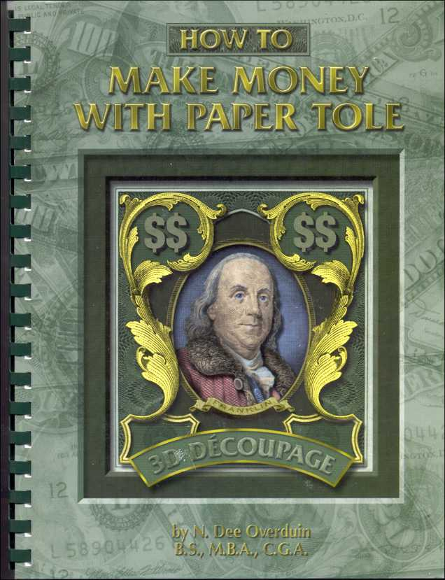 Book-2 How to Make Money w/Paper Tole/3D Crafts