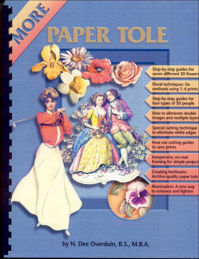 Book-3 Printed Guide for Paper Tole/3D Crafts.