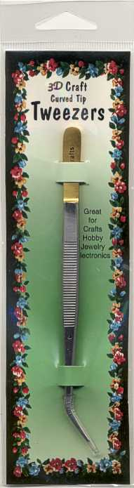 Craft Tweezers Curved Tip