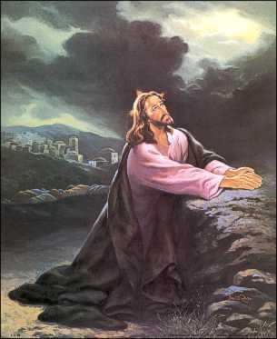 Jesus Praying Paper Tole 3d Kit Size 16x20 16 8088