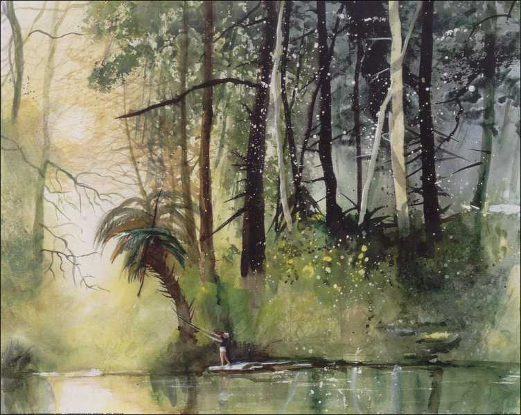Old Florida Scene Art Print Size 8x10 59046
