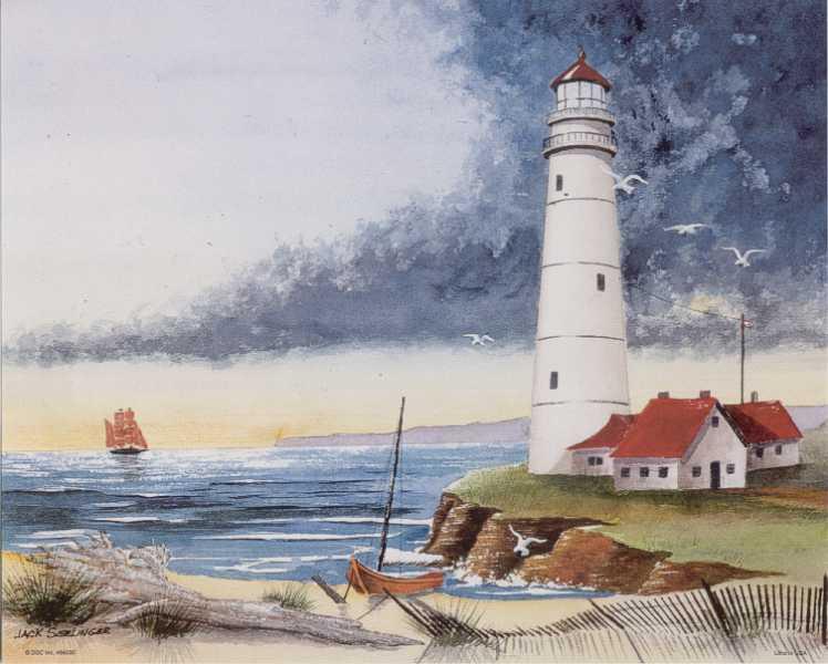 Paper Lighthouse Models