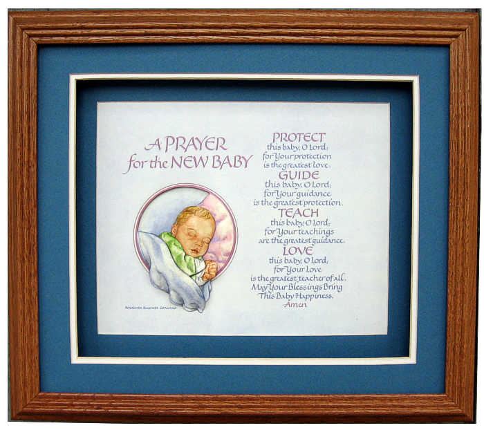 Prayer For New Baby Prints Size 8x10 8 1081