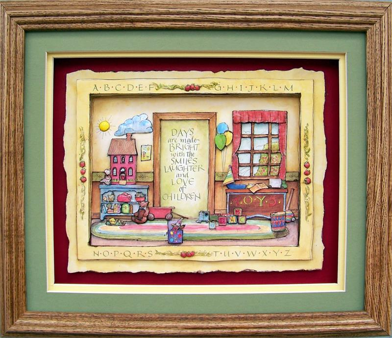 Oak Shadow Box Frame 750 Wheat size 10x12 for 8x10 picture 8-1340