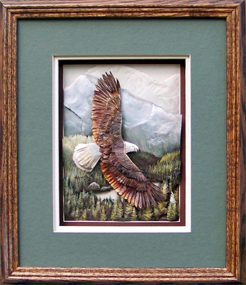 Shadow Box Oak Frame 750 Wheat Size 11x13 Inches For