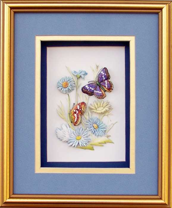 SPECIAL** Gold Shadow Box Frame size 8x10 with FREE Paper Tole Kit- 2667