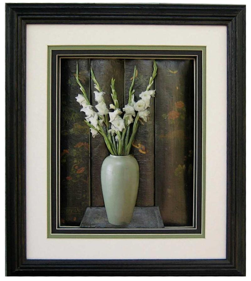Oak Shadow Box Frame Black 750 Size 12x14 For 8x10