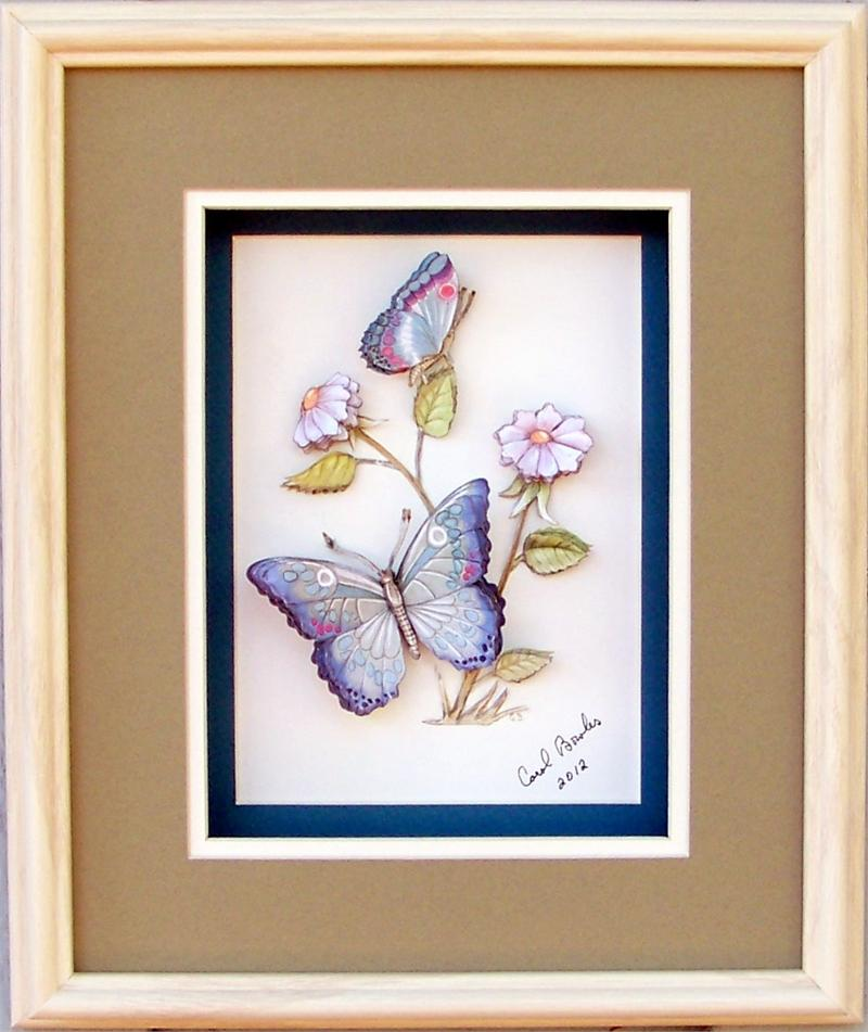 Blue Butterfly Paper Tole 3d Kit Size 8x10 51235