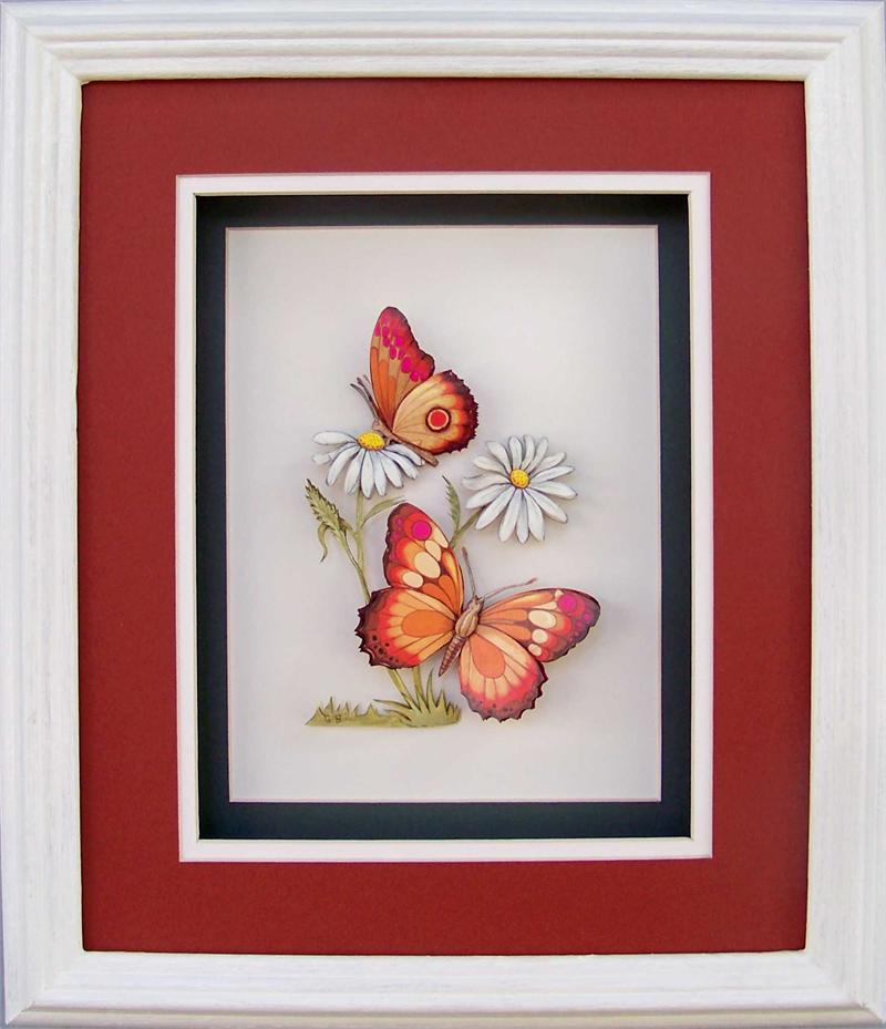 Butterfly Orange Print Size 8x10 51236