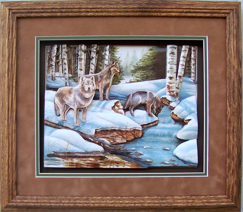 Oak Shadow Box Frame 750 Wheat 12x14 For 8x10 Picture 52021