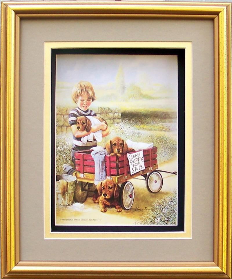 SPECIAL** Gold Shadow Box Frame size 8x10 with FREE Paper Tole Kit 51117