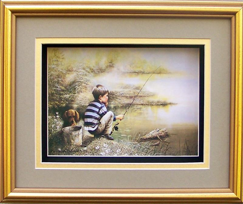 SPECIAL** Gold Shadow Box Frame size 8x10 with FREE Paper Tole Kit 5 ...