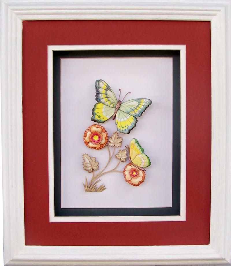Shadow Box Frame White Oak 10x12 For 8x10 Pictures 6666 1