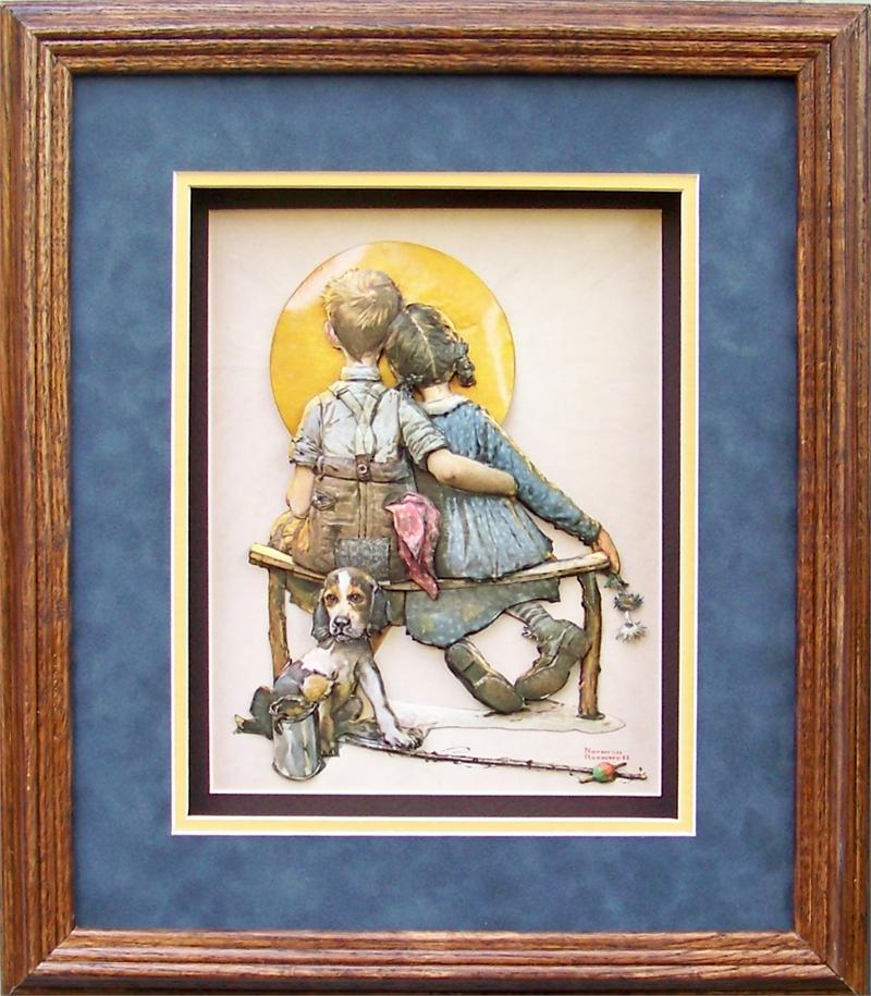 Norman Rockwell Little Spooners Print Size 8x10 7545