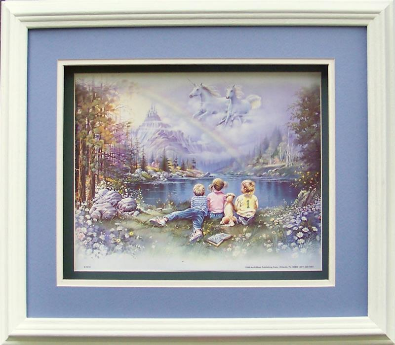 Unicorns in the Sky Paper Tole 3D Kit size 8x10 8-1018
