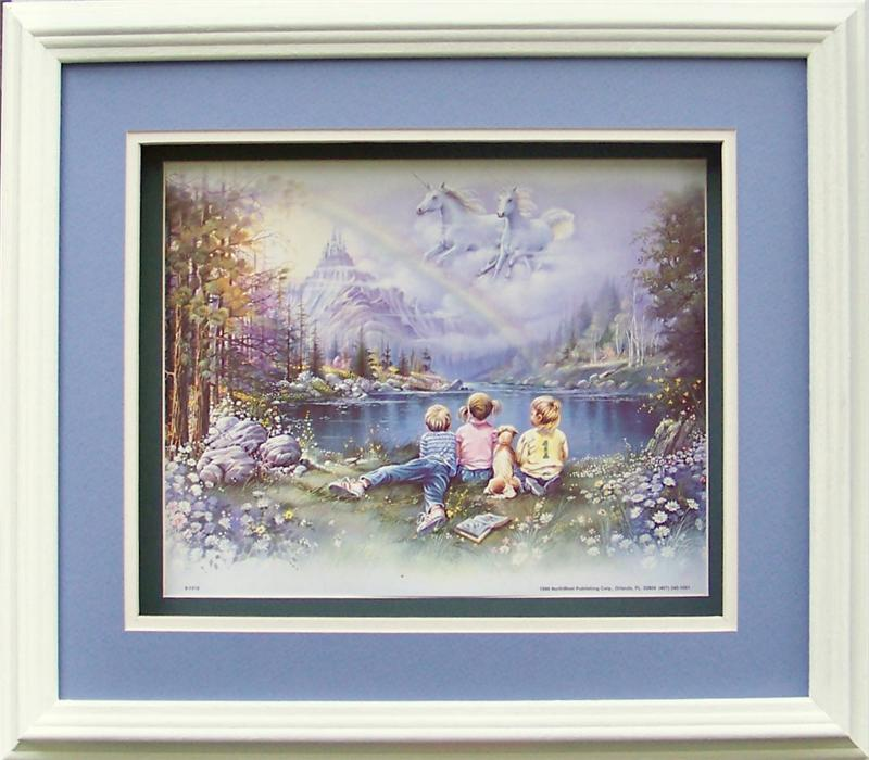 Oak Shadow Box Frame # 750 White size 12x14 for Size 8x10 Picture 1018