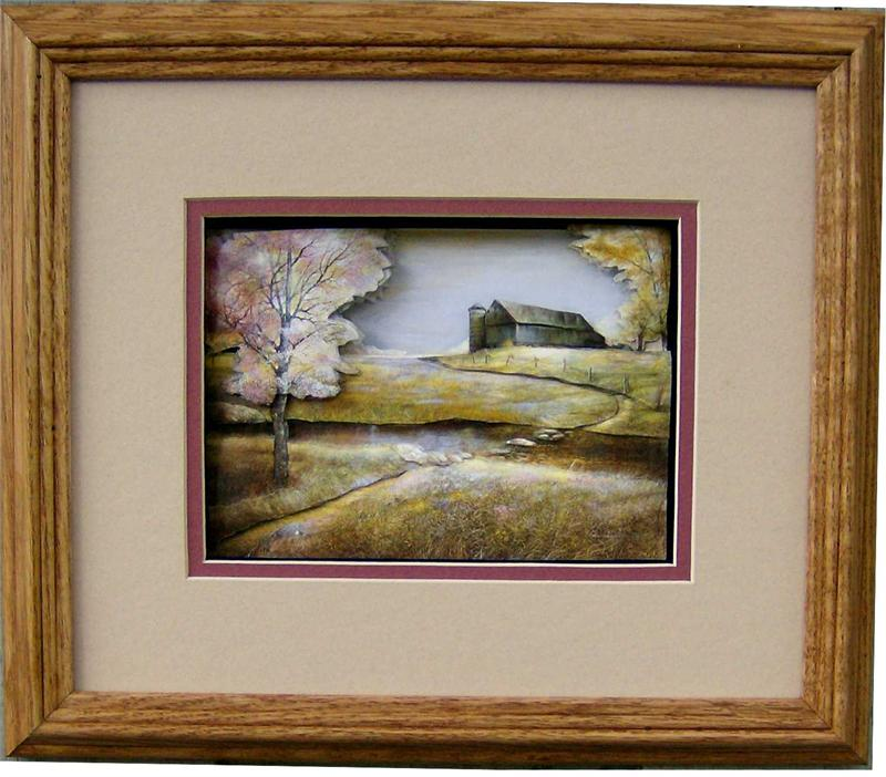 Oak Shadow Box Frame Wheat Size 10x12 For 6x8 Pictures 8 8146