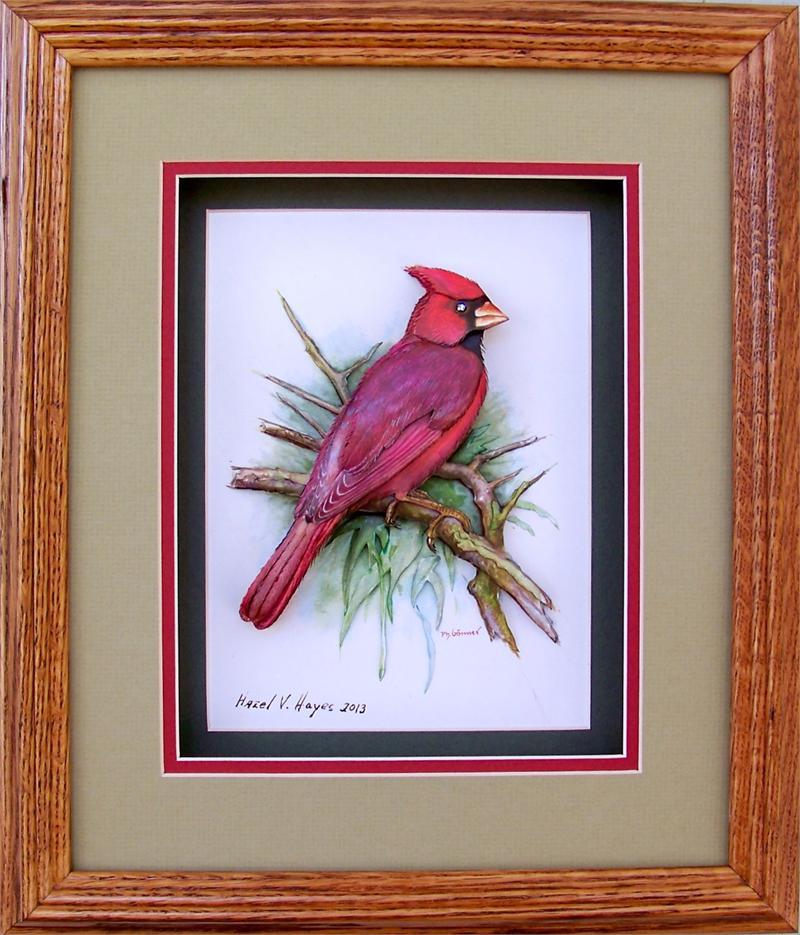 Gonner Red Cardinal Bird Paper Tole 3d Kit Size 6x8 985