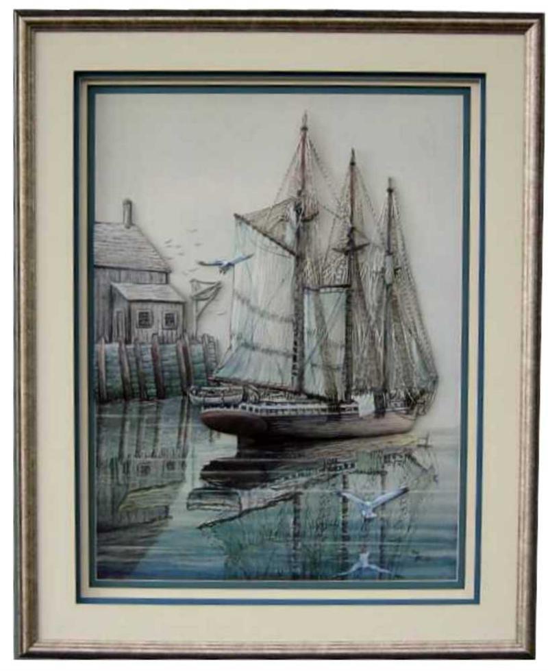 Sailing Ship I Paper Tole 3d Kit Size 18x24 9997