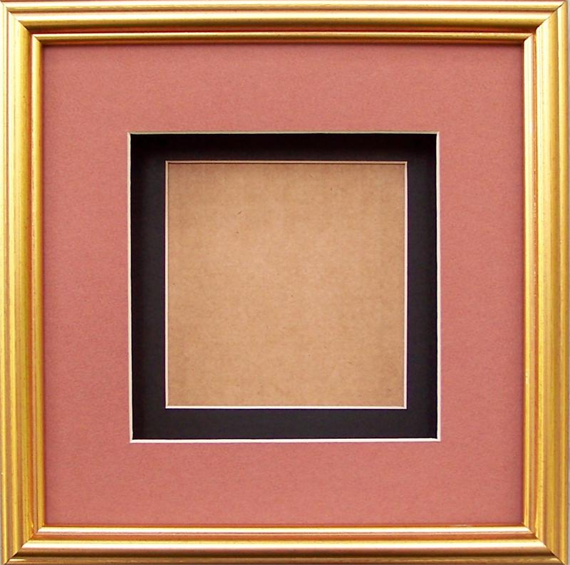 Special- Shadow Box Frame # SB1008 Gold size 8x8 for size 4x4 prints ...