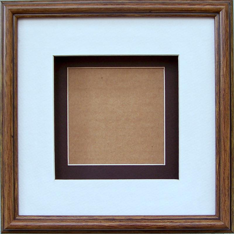 Special- Shadow Box Frame # SB1013 Pecan Brown size 8x8 for size 4x4 ...