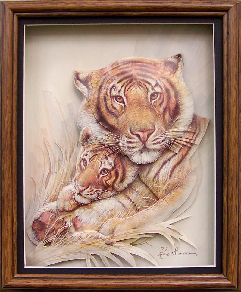 Tiger Safe Amp Sound Mini Art Print Size 4x5 By Ruane
