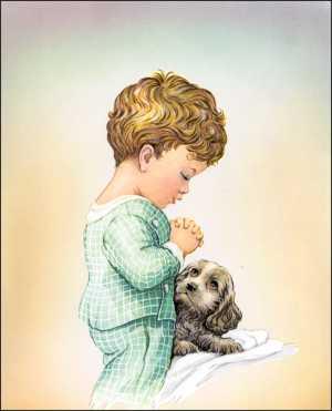 Little Boy Praying Paper Tole 3d Kit Size 8x10 10696