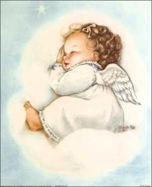 Baby Starlet Angel Paper Tole 3D Kit size 5x7 41269