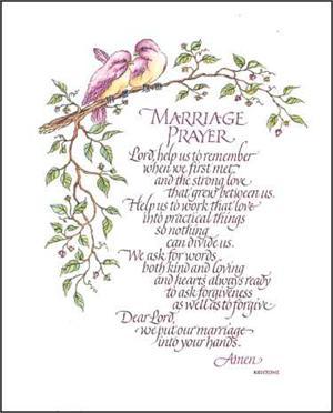 Marriage Prayer Prints Size 8x10 8 461