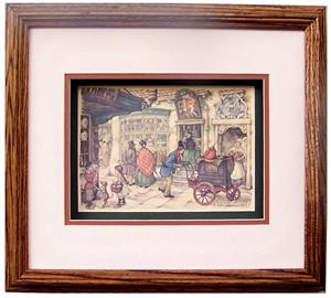 Oak Shadow Box Frame Wheat Oak Size 11x13 For Anton Pieck 5380