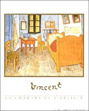 Van gogh la chambre art print size 8x10 8 329 for Chambre 8x10